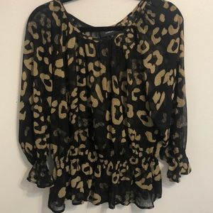 Balck and Gold Blouse